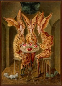 """En esta imagen difundida por Christie's Images Ltd., """"Vampiros vegetarianos"""" de Remedios Varo. La pintura de la artista mexicana encabeza la venta de arte latinoamericano de la casa el miércoles 27 de mayo del 2015 en Nueva York. (Christie's Images Ltd. vía AP)"""