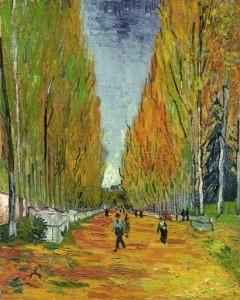 """La pintura """"L'Allée des Alyscamps"""" fue subastada en Nueva York. Foto: Sotheby's vía AP)"""