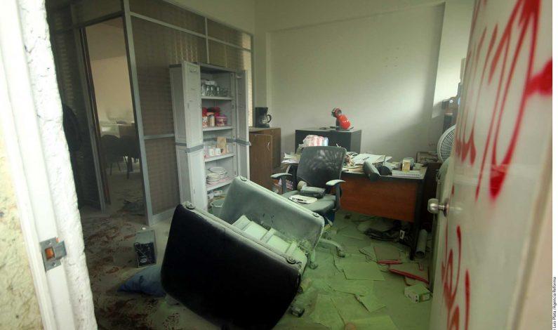 Saquean, queman y vandalizan oficinas del INE