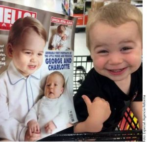El niñp tiene un gran parecido con el Príncipe Jorge de Inglaterra. Foto: Agencia Reforma