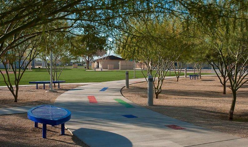 Arte público en parque de Phoenix
