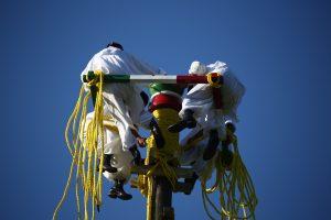 El ritual de los voladores fue declarado por la UNESCO Patrimonio Inmaterial de la Humanidad. Foto: Notimex