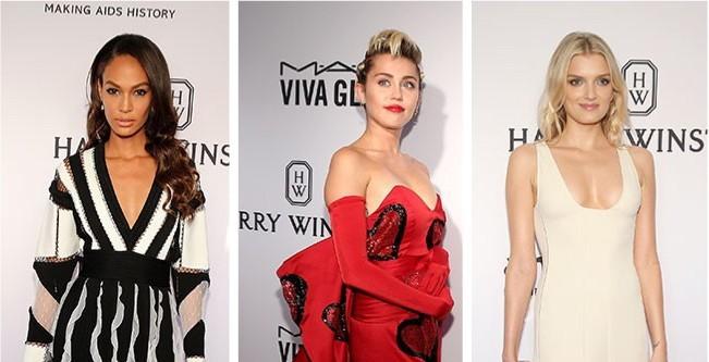 Gala amfAR: Blanco, negro y rojo dominan la alfombra