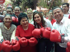 Carmen está dispuesta a ganar en el ring de la política. Foto: Cortesía