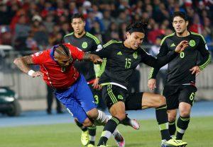 Chile Soccer Copa America Chile Mexico