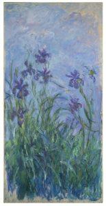 """El cuadro de flores """"Iris Mauves"""" de Claude Monet será puesto a la venta. Foto: AP"""