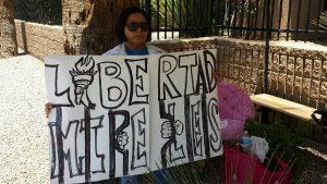 Para América Sevilla este fue un acto de solidaridad por la situación que se vive en México. Foto: Cortesía
