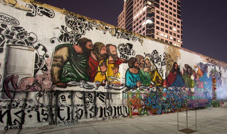 Pintan mural de La Última Cena en Phoenix