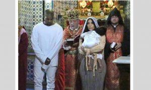 Las imágenes de la ceremonia realizada en Jerusalén fueron publicadas por Kardashian en su Instagram. Foto: Instagram