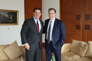 El secretario de Relaciones Exteriores, José Antonio Meade Kuribreña, se reunió con el gobernador de Arizona, Doug Ducey, en el marco de su visita de trabajo a México. Foto: Notimex