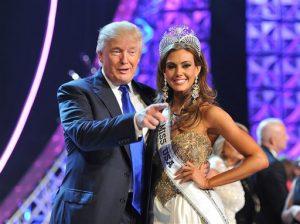 Trump es copropietario del certamen de belleza. Foto: AP