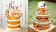 "De moda los ""naked wedding cakes"""