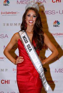 La actual Miss USA, Nia Sánchez, se identifica como en parte mexicana y en parte alemana. Foto: AP