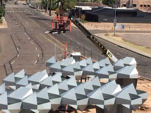 Las estructuras de acero fueron fabricadas en Phoenix por Magnum Companies. Foto: Tomada de Facebook de la Ciudad de Phoenix