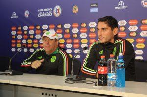 En conferencia de prensa, el técnico de la selección mexicana de futbol, Miguel Herrera reiteró que tiene un equipo de buena calidad para alcanzar la final de la Copa América Chile 2015. Foto: Notimex