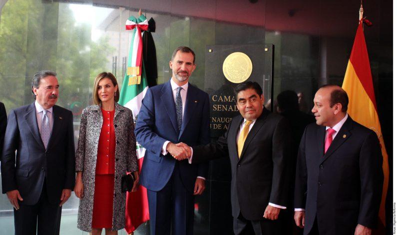 México: Reciben en Senado a Reyes de España