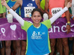 Ana Claudia Talancón acaba de encabezar la carrera de su fundación de lucha contra el cáncer. Foto: Mixed Voces
