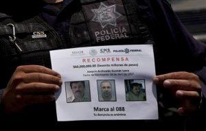"""""""El Chapo"""" Guzmán, que se escapó de la cárcel de máxima seguridad Altiplano a través de un túnel subterráneo, en Almoloya. Foto: AP"""