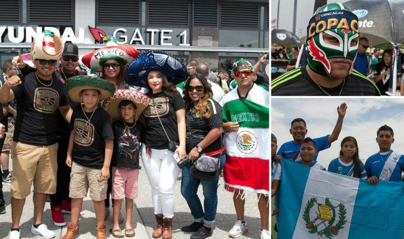 Gran ambiente se vive previo al México-Guatemala