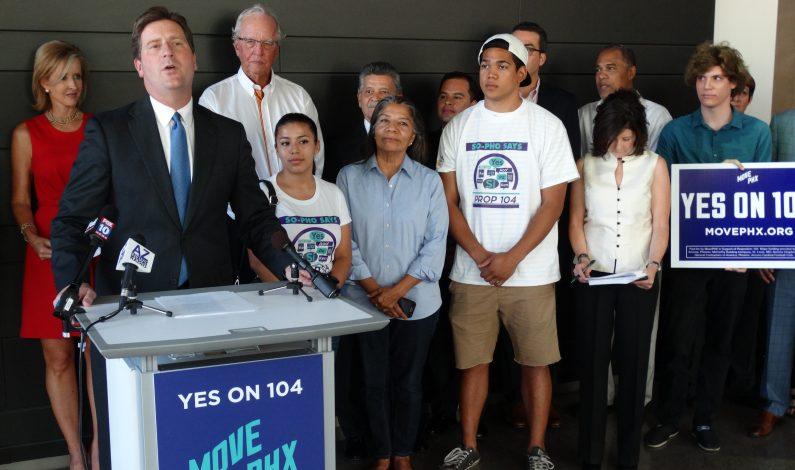 Dan su apoyo a plan de transporte público en Phoenix