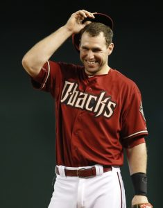 Arizona Diamondbacks first baseman Paul Goldschmidt in the first inning during a baseball game against the Colorado Rockies, Sunday, July 5, 2015, in Phoenix. (AP Photo/Rick Scuteri)