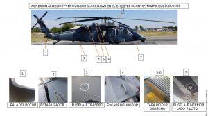 """De acuerdo con la Semar, sus elementos realizaban un patrullaje terrestre y aéreo en inmediaciones del Ejido """"El Cuatro"""", donde localizaron personas armadas que dispararon hacia el helicóptero Black Hawk de la Armada de México. Foto: Agencia Reforma"""