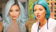 Famosas tiñen su cabello de azul