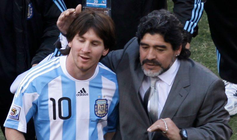 """¿Sos sueco o argentino?"", cuestiona Maradona a Messi"