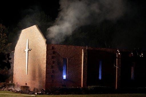 Carolina del Sur: Incendio en iglesia no fue intencional