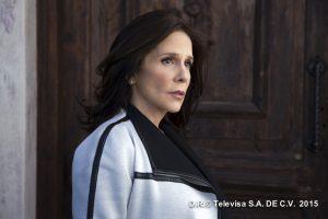 Rebecca Jones dio vida  Renata Flores del Ángel, en Que te Perdone Dios. Foto: Cortesía de Televisa