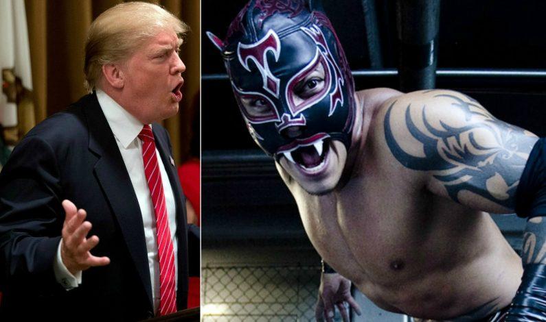 Luchador mexicano reta a Donald Trump