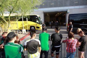 La selección mexicana de futbol llegó la tarde del viernes a Phoenix, donde el domingo se enfrentará con su similar de Guatemala. Foto: Notimex