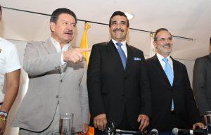 Los dirigentes del PRD y PAN, Carlos Navarrete y Gustavo Madero, respectivamente, anunciaron medidas para evitar elecciones turbias en comicios electorales futuros. Foto: Notimex