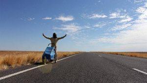 En su recorrido Nacho lleva una media de 45 kilómetros al día. Foto: Notimex