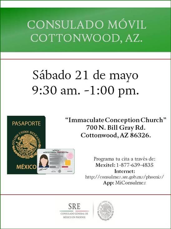 Consulado de México llevará sus servicios a Cottonwood