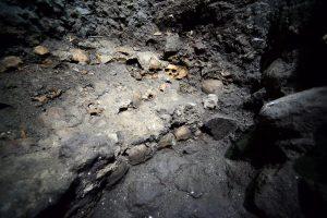 Arqueólogos del Instituto Nacional de Antropología e Historia, dieron a conocer el hallazgo del gran Tzompantli de México-Tenochitlan. Foto: Notimex
