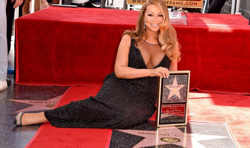 Mariah Carey recibe su estrella en Hollywood