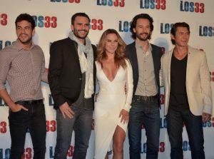 Mario Casas, Juan Pablo Rabba, Kate del Castillo, Rodrigo Santoro y Lou Diamond Phillips. Foto: Mixed Voces.