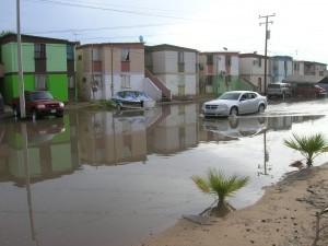 Autoridades de ciudades fronterizas trabajan para evitar inundaciones durante la época de lluvias que ya se aproxima. Foto: Notimex