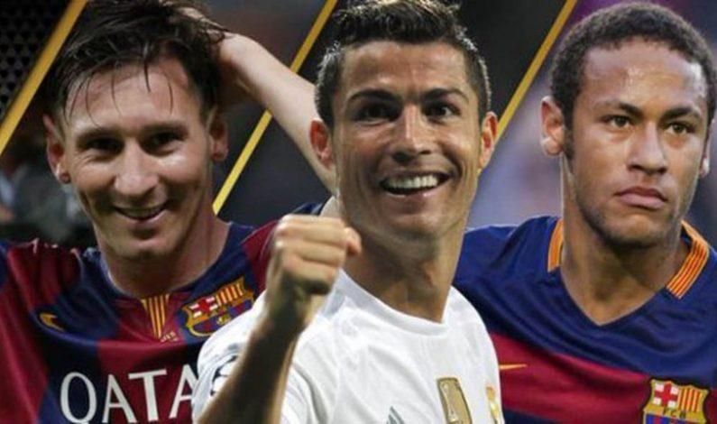 Neymar, finalista al Balón de Oro junto a Messi y Ronaldo