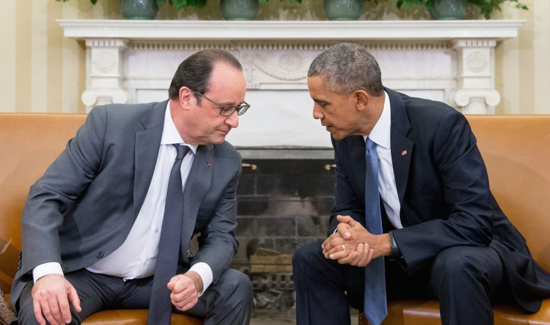 Obama recibe a Hollande en la Casa Blanca