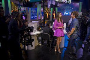 Alejandra García y Polo Morin buscan quedarse con los roles de Kristel y Pedro, respectivamente. Foto: Cortesía de Televisa.