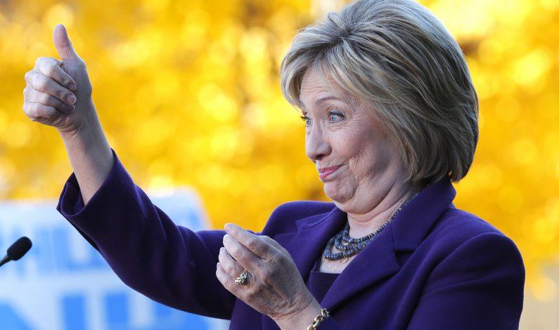 Clinton aumenta ventaja en el seno de su partido