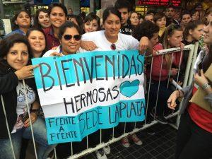 En su gira por Argentina fueron recibidas por cientos de fans. Foto: Cortesía Ocesa Seitrack