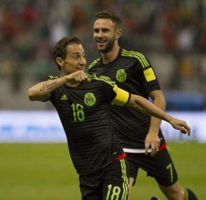 A los siete minutos de juegoMéxico se fue arriba en el marcador con el tanto de Andrés Guardado que marcó con un tiro libre. Foto: Notimex