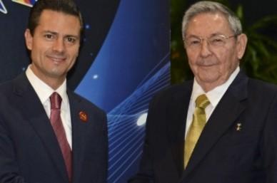 Raúl Castro visita México para revisar la relación bilateral