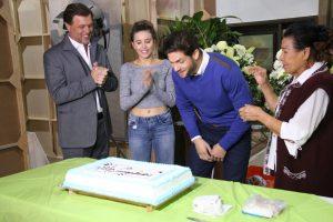 Horacio Pancheri estuvo acompañado por Paulina Goto, René Strickler y Aurora Clavel durante el festejo. Foto: Cortesía de Televisa