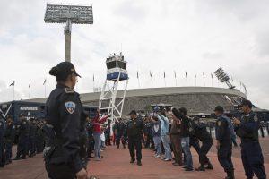 El estadio Olímpico de Ciudad Universitaria tendrá un alto grado de seguridad el próximo domingo. Foto: AP