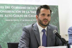 El titular de la Secretaría mexicana de Medio Ambiente y Recursos Naturales (Semarnat), Rafael Pachhiano Alamán asistió a la conferencia con el presidente de la COP21. Foto: Google