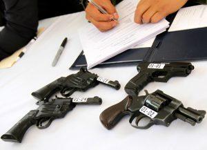 En los municipios que se recaudaron más armas fueron Hermosillo con 109, Cajeme 92 y Nogales con 33. Foto: Notimex